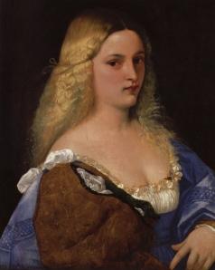 """""""Violante"""", by Titian, circa 1514 (Vienna: Kunsthistorisches Museum"""