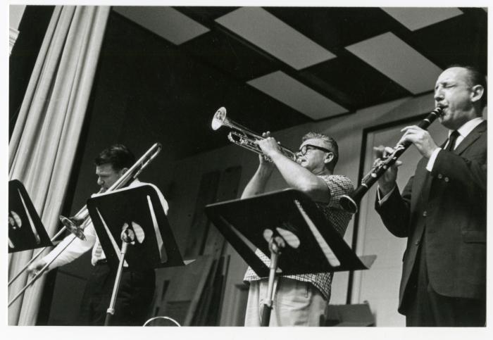 Bob Mielke, Lu Watters, and Bob Helm