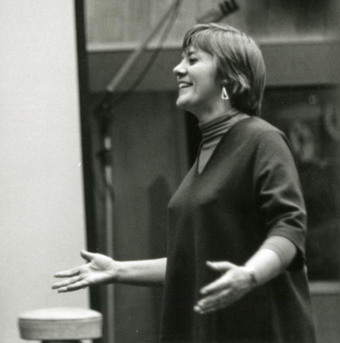 Barbara Dane at the 1963 recording session