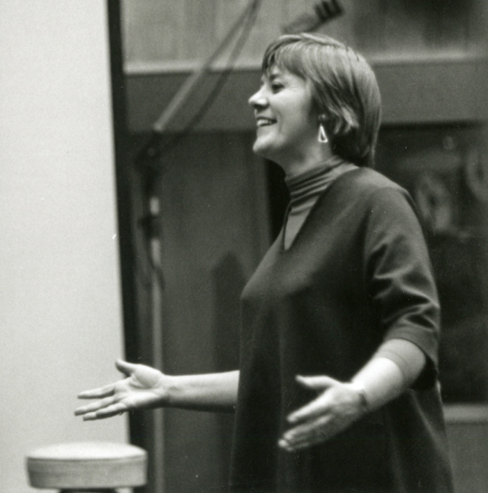 Barbara Dane at the 1963 recording session