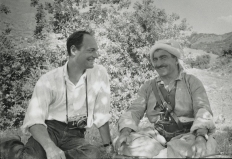 With Mullah Mustafa Barzani, Iraq, 1965