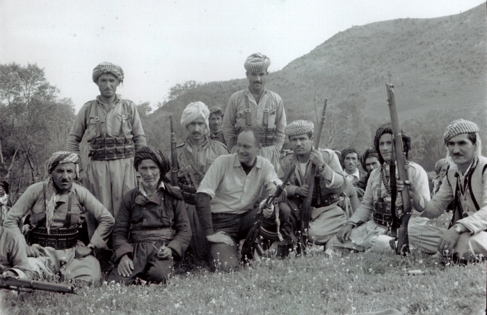 With Kurdish pesh mergas, Iraq, 1965