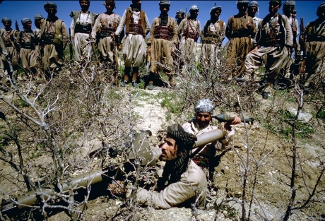 Kurds with Rocket Launcher, Northern Iraq, 1965, photo by William Carter