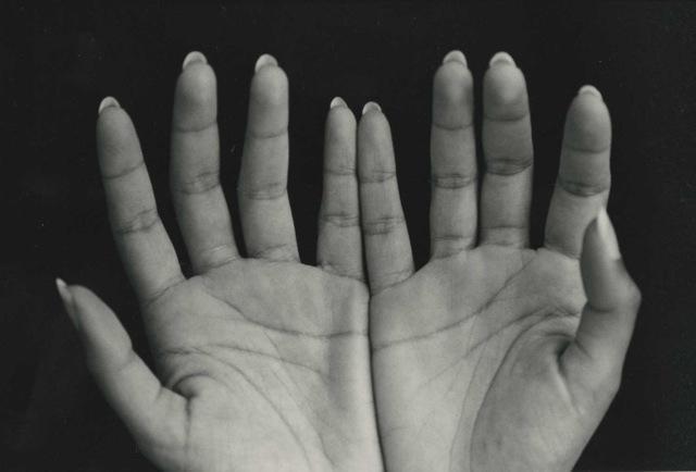 Sramana's Hands, vintage silver print, ©William Carter 2002