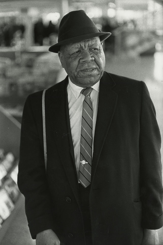 """TALENTED SON of bandleader Henry Allen, trumpeter Henry """"Red"""" Allen (1906-1967) played extensively in New Orleans, on the Mississippi riverboats and in Chicago before settling in New York, where he was featured as soloist and sideman with top jazz orchestras of the 1920s, 1930s, and 1940s including those of Luis Russell, Fats Waller, Fletcher Henderson and Eddie Condon -- besides leading several of his own bands. Photograph by William Carter, 1964"""